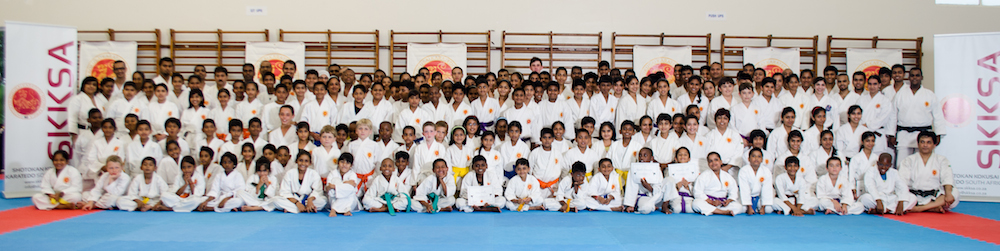 Karateka at the 2013 Weekend Course.